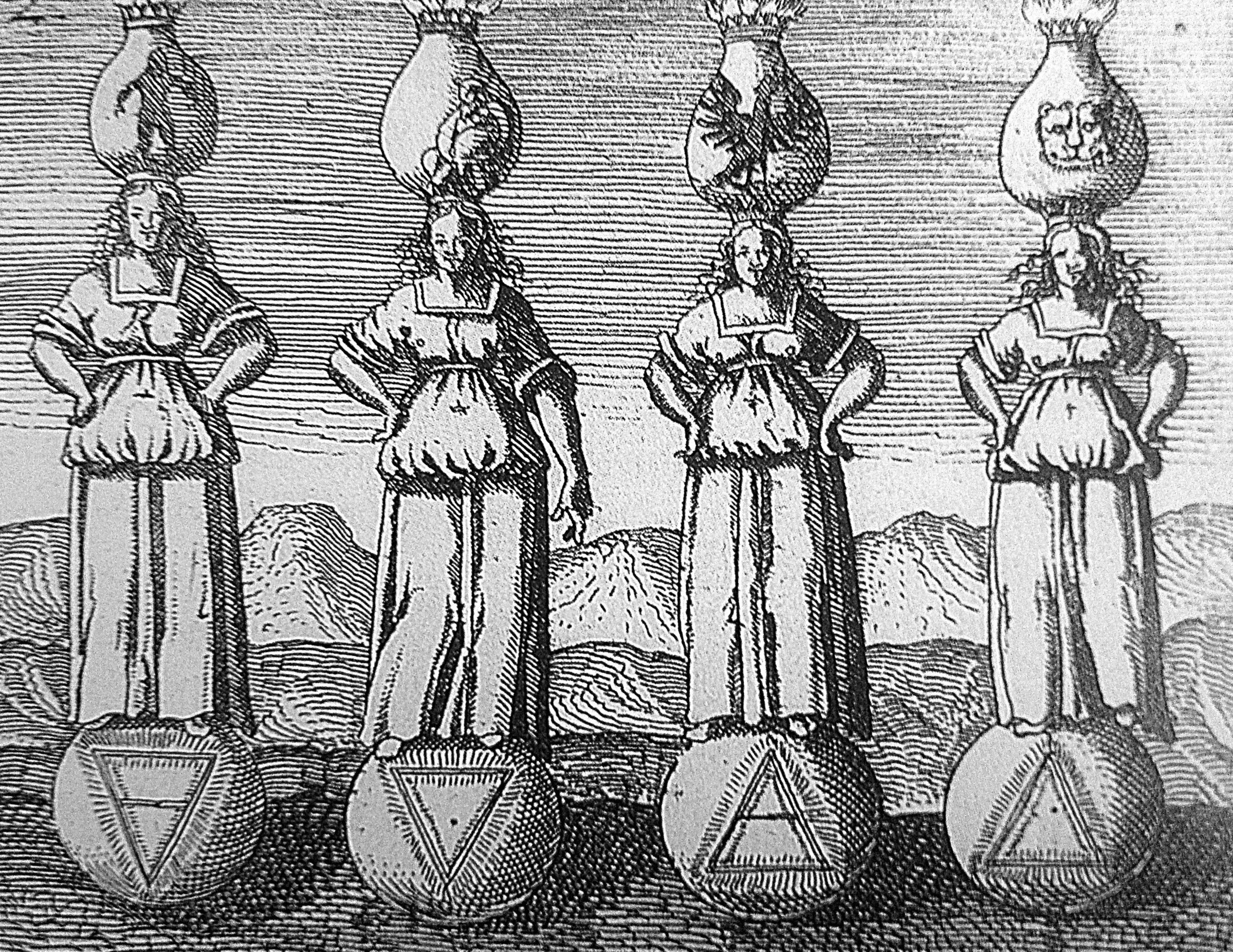 four elements in viridarium chymicum scaled